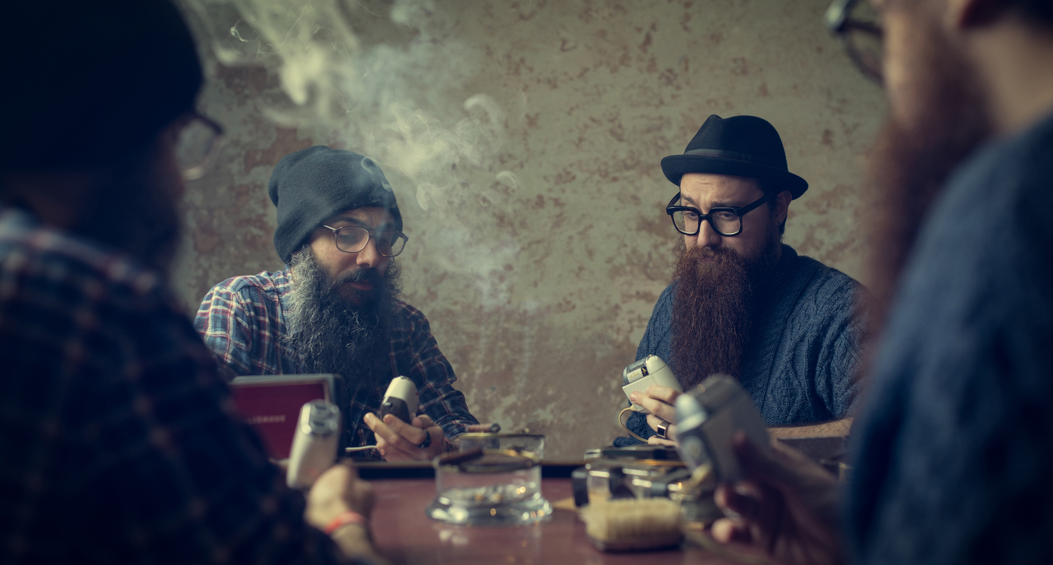 Tho Beards, one Mirror. Commercial photo by Luca Zizioli.