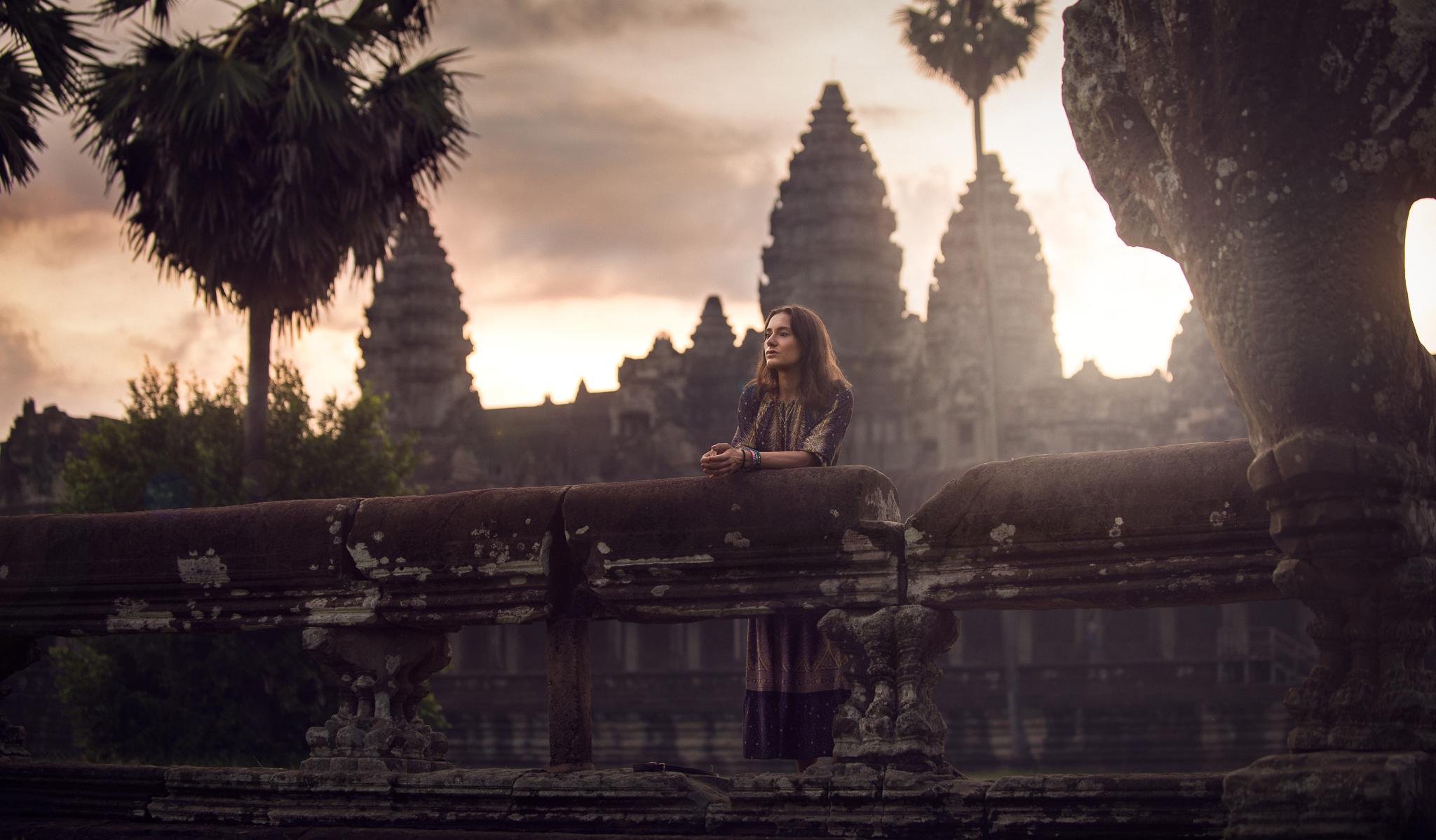 Portrait in Angkor Wat by Luca Zizioli