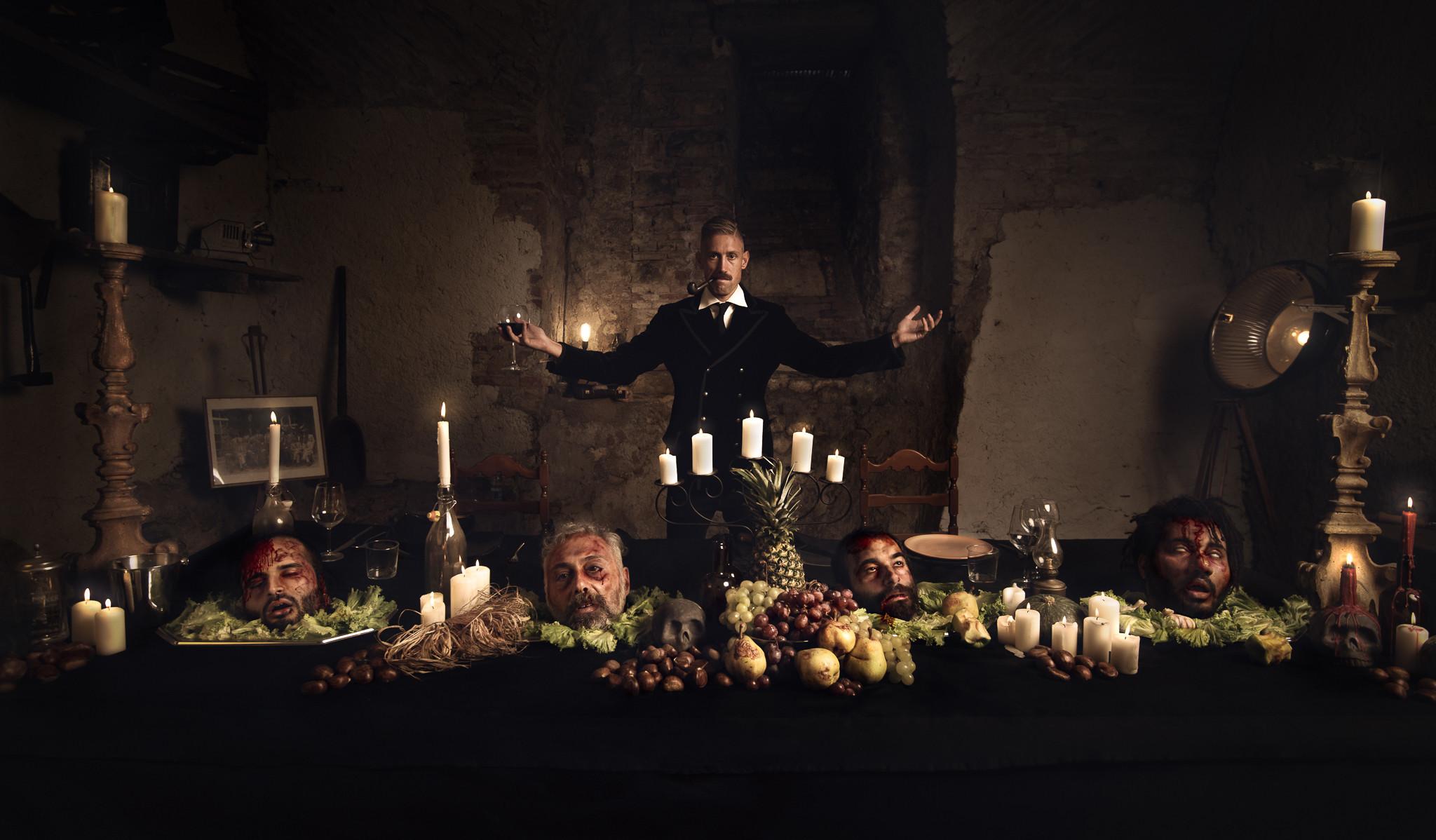 Dark commercial photoshoot
